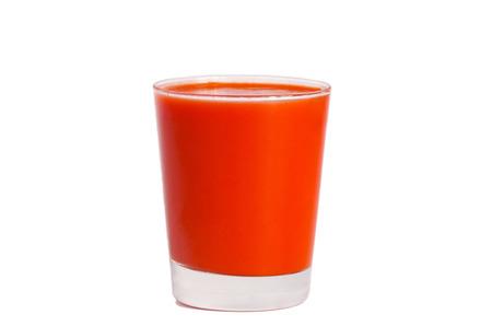 jugo de tomate: Jugo de tomate aisladas sobre fondo blanco de cerca