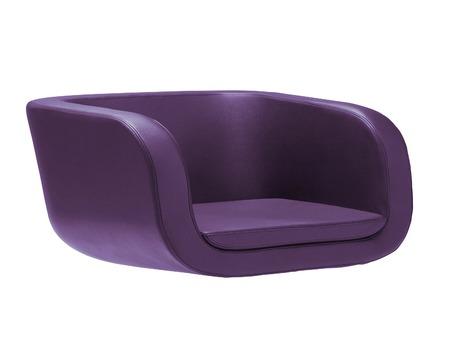 Dark Purple Armchair Isolated On White Stock Photo   35594845