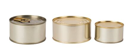 tin cans: Tin cans isolated on white background