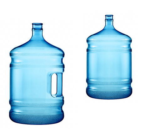 demijohn: large bottles of pure water on a white background