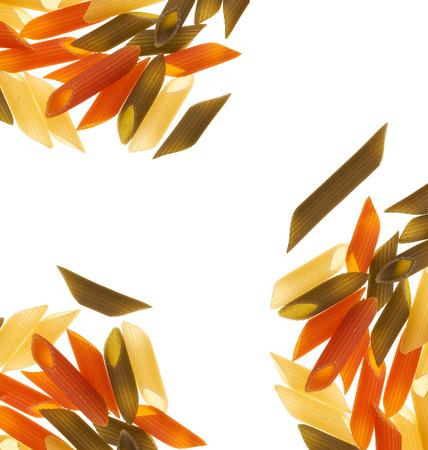 penne: Tri-color penne pasta