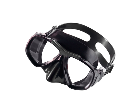 tempered: diving mask isolated on white background Stock Photo