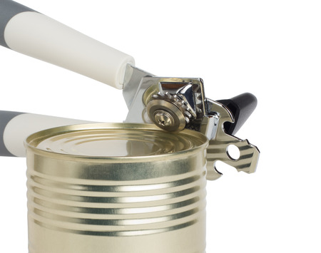 can opener: The can opener opens can