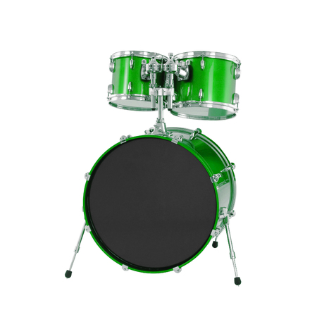 drumset: Set of Green drums isolated