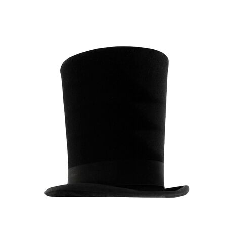 black hat: Black magic hat isolated on a white background