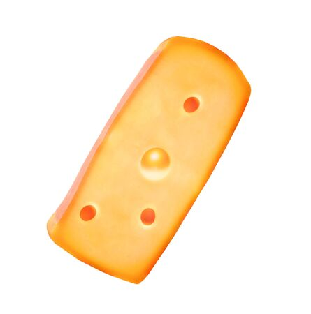 full of holes: cheese isolated on white