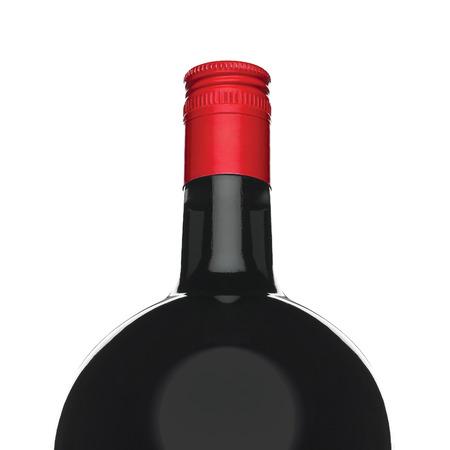 bottle liquor: botella de licor aislado en blanco