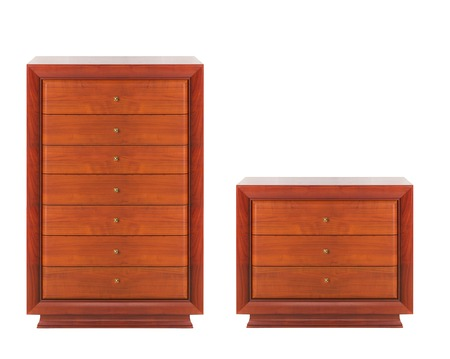 highboy: Wooden dressers isolated