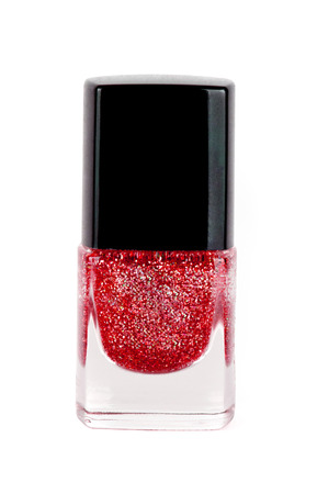 polisher: Red nail polisher