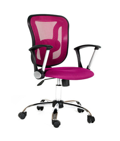 Wheel chair: Pink office a chair Stock Photo