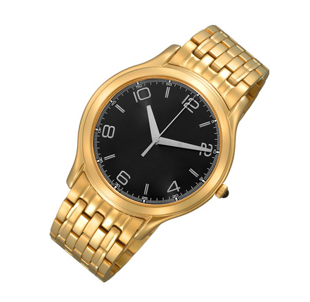 wrist: Mens luxury gold wrist watch