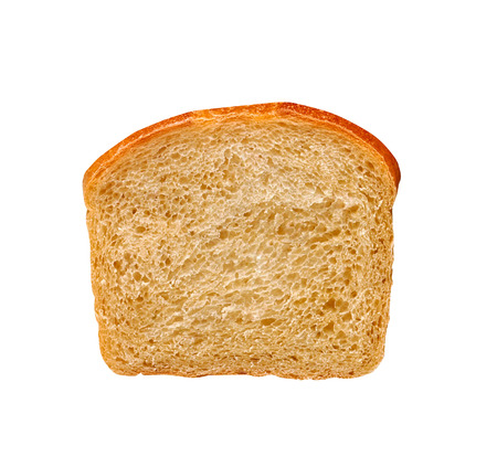 white bread: one slice of white bread Stock Photo