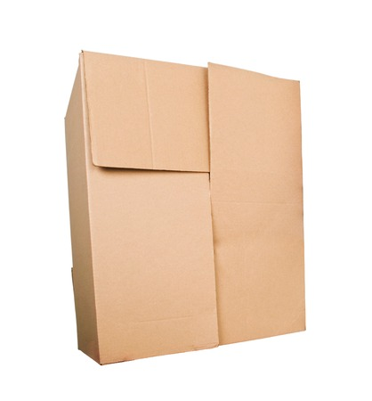 shipped: Cardboard box Stock Photo