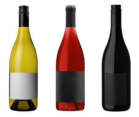 corked: Wine Bottles isolated on white