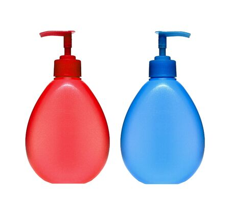 jabon liquido: botellas de jabón líquido aislaron