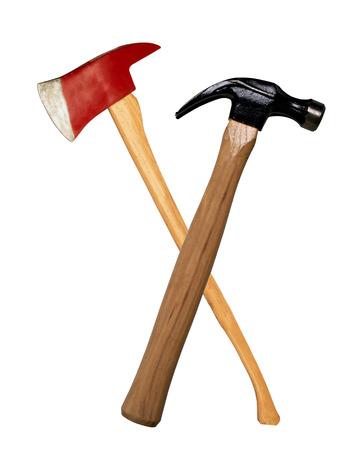 ax: ax and hammer Stock Photo