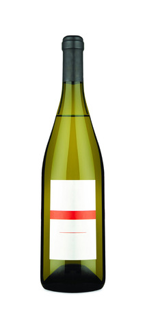 wine grapes: Wine bottle isolated