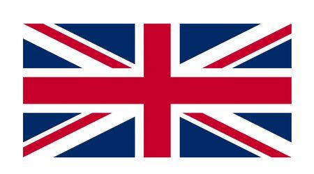 bandera de gran breta�a: Gran Breta�a bandera contra un fondo blanco Foto de archivo