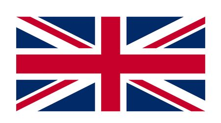 bandera de gran breta�a: Great Britain flag against a white background