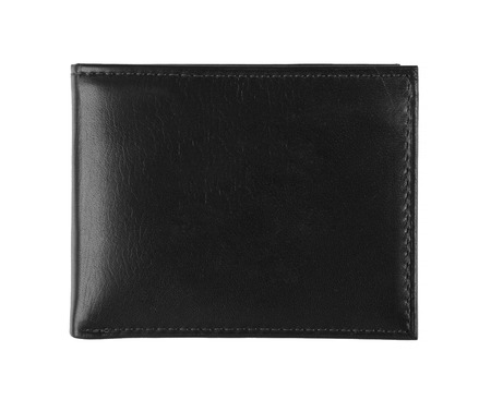 empty wallet: black wallet isolated on white Stock Photo