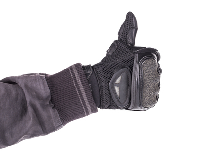 protective: Motorcyclist Protective Gear Stock Photo