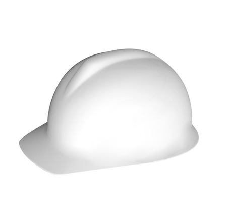 hard stuff: White hard hat, isolated on white