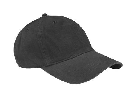 black cap: Black Cap Isolated on White Background