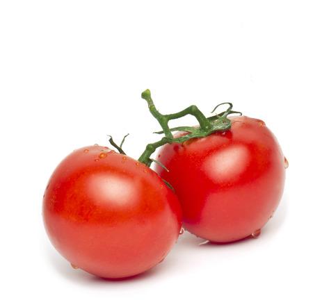 two Tomatos Stock Photo