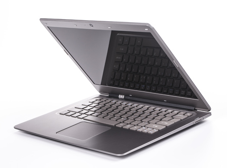 half open: laptop half open