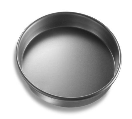 chrome base: Lid or Base of Food Tin Can isolated on white background