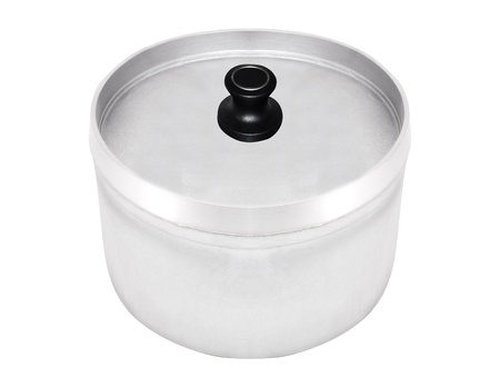 steel pot isolated