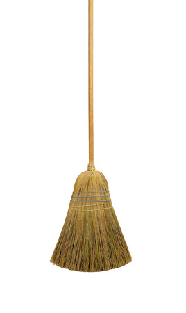 besom: Besom, isolated on white background