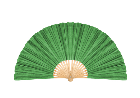 Green Fan isolated on white background