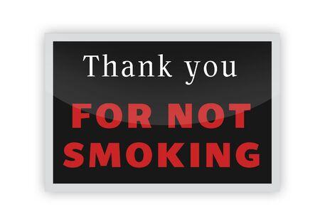 No Smoking Sign Red