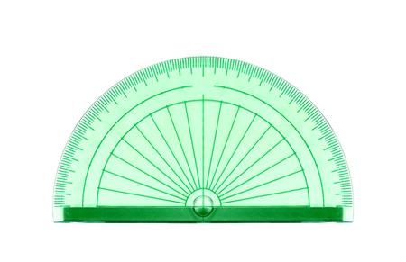 green transparent protractor Banque d'images - 98621228