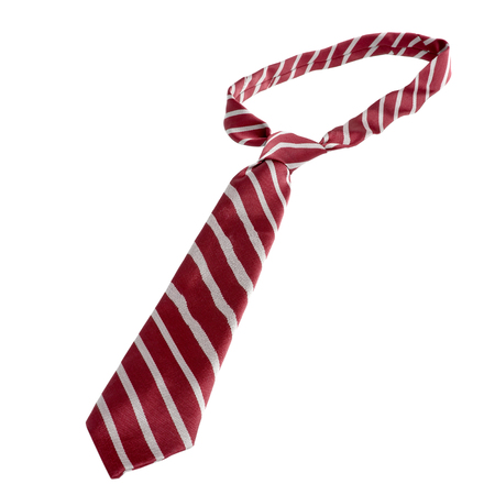 red tie isolated on white
