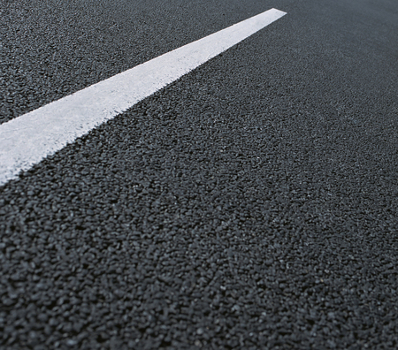 White dotted line on city asphalt road background