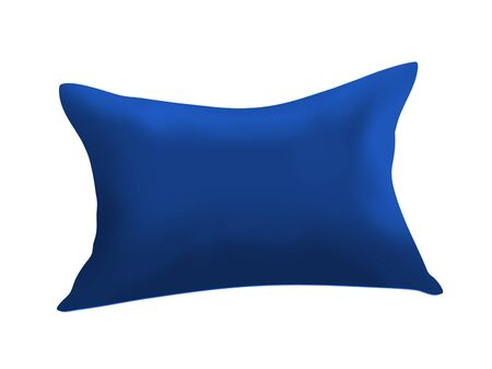 Blue cushion isolated on white