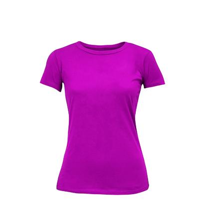 Female t-shirt isolated on white background Stock Photo
