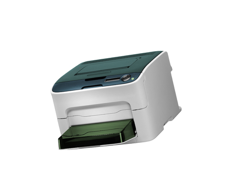 All in one printer scaner isolated on white Foto de archivo