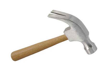 IJzeren hamer geïsoleerd op een witte achtergrond