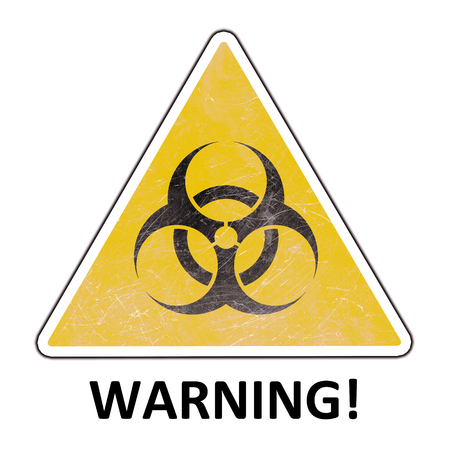 Illustration Warning sign isolated on white