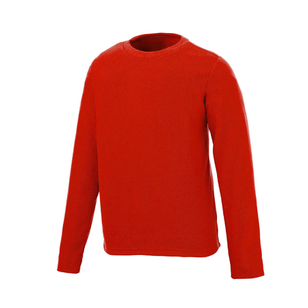 Red, long sleeve sweatshirt Stock Photo