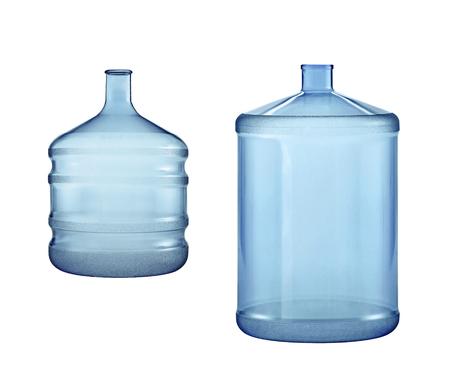 Big water bottles isolated on white background 스톡 콘텐츠