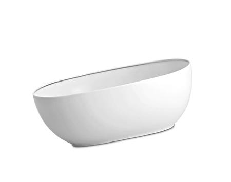 White bowl on white background Stock Photo