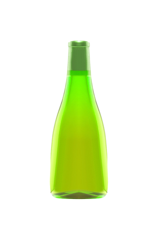 bottle of absinthe isolated on white Banque d'images - 101134812