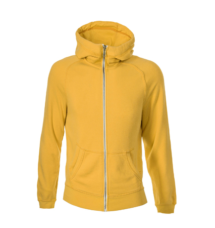 yellow hoodie isolated on white