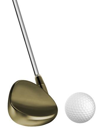 Golf ball and a golf club Archivio Fotografico - 105257208