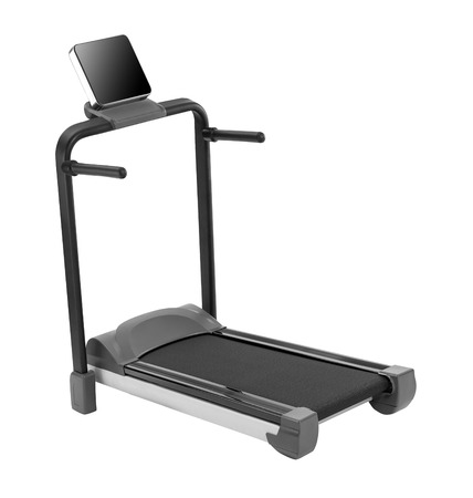 Treadmill isolated on white background Standard-Bild