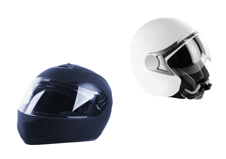 Black helmet Isolated on white background Stock fotó